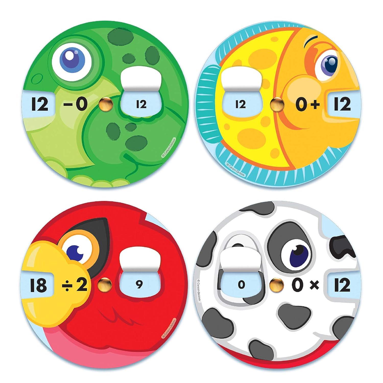 Math Facts Manipulatives 4 Sets CARSON DELLOSA CD-144745 Carson-Dellosa EZ-Spin