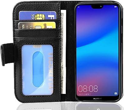 Cadorabo Funda Libro para Huawei P20 Lite en Negro ÓXIDO ...