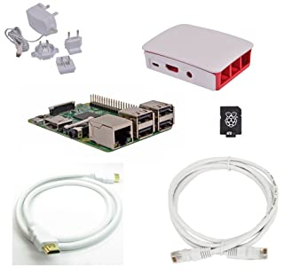 Raspberry Pi 3 Official Desktop Starter Bundle (16GB, White)