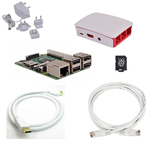 66 opinioni per Raspberry Pi 3 Official Desktop Starter Bundle (8GB, White)