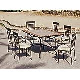 Agadir Table de jardin rectangulaire mosaïque Multicolore ...