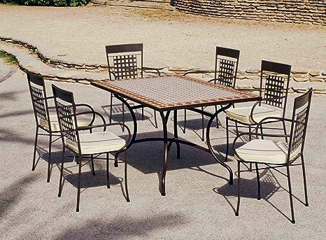 Hévéa jardín Conjunto atv15 - 1 Mesa Tonos 150 Ladrillos y ...