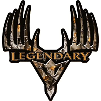 Legendary Whitetails Big Game Camo Monster Buck Window Decal X Large