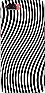Stylizedd Oppo A3s Slim Snap Basic Case Cover Matte Finish - Zebra Lines