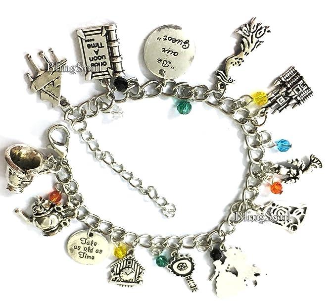 d51565a96 Beauty Charm Bracelet Jewelry - Beast Princess Belle Bracelet for Women  (V2) Silver
