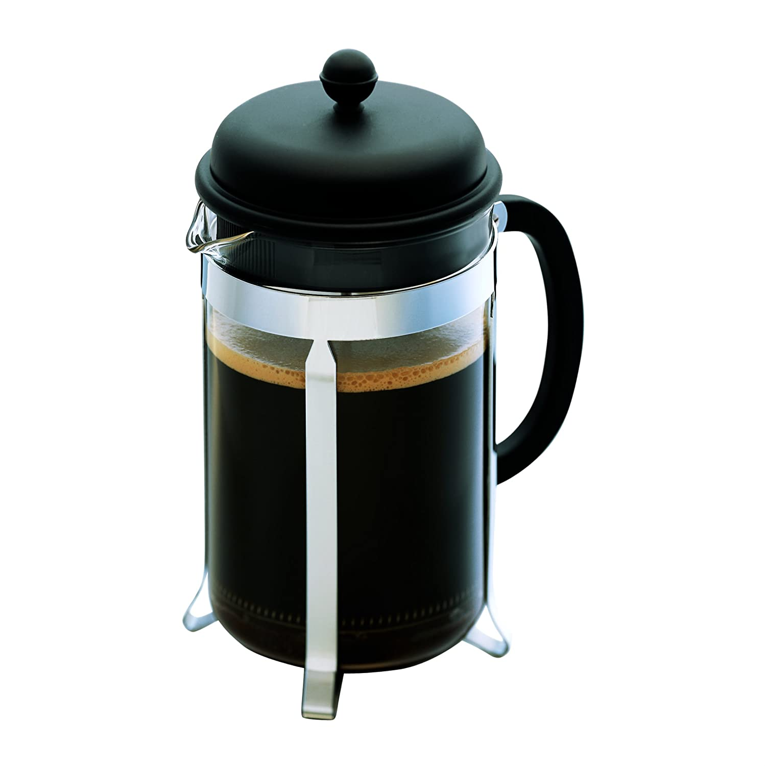 Bed bath beyond french press - Amazon Com Bodum Caffettiera French Press Coffee Maker Black Plastic Lid And Stainless Steel Frame 8 Cup 34 Ounce Kitchen Dining
