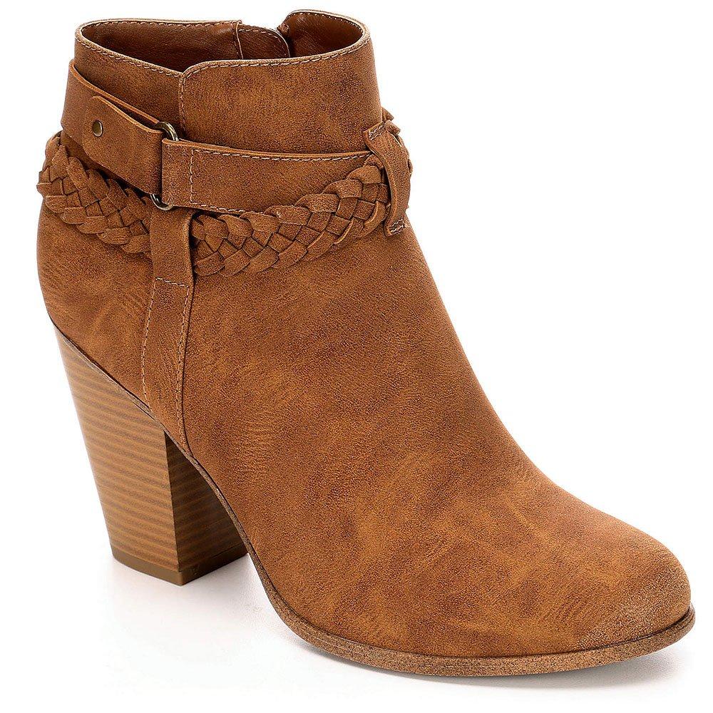 Limelight Womens Jenelle High Heel Western Ankle Boot Shoes B0771TBXX3 8 B(M) US|Cognac
