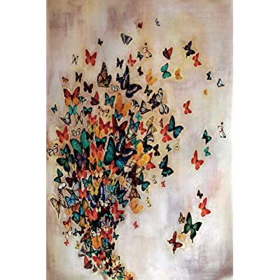 Classic Jigsaw Puzzle 1000 Piece Wooden Adults Children Puzzles Butterfly Group Art DIY Leisure Game Fun Toy Gift Suitable Family Friends: Toys & Games