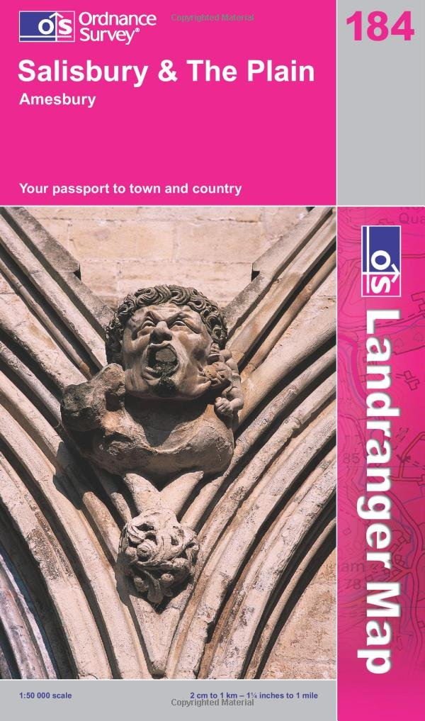 Salisbury and the Plain, Amesbury (Landranger Maps) 184 (OS Landranger Map) ebook