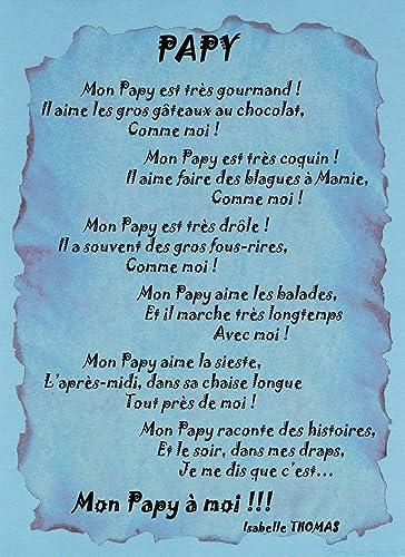 Un Poème à Offrir à Son Papy Amazonfr Handmade