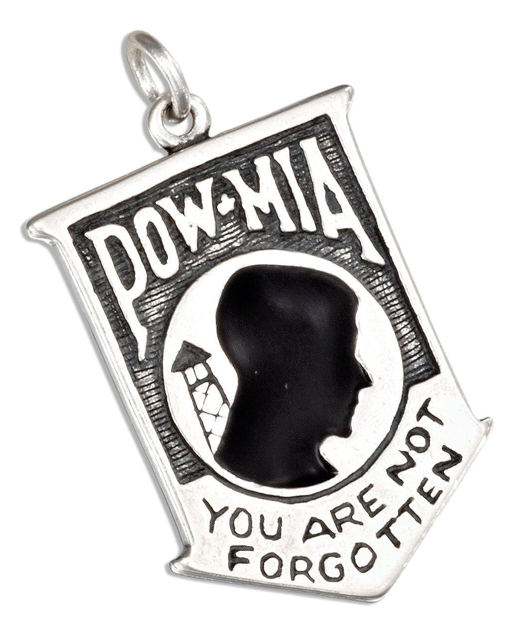 Sterling Silver Pow Mia Pendant