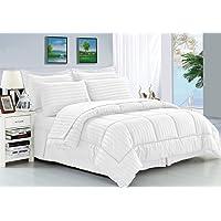 Elegant Comfort 8-Piece Dobby Stripe Bed-in-a-Bag Comforter Set (Multiple Colors)