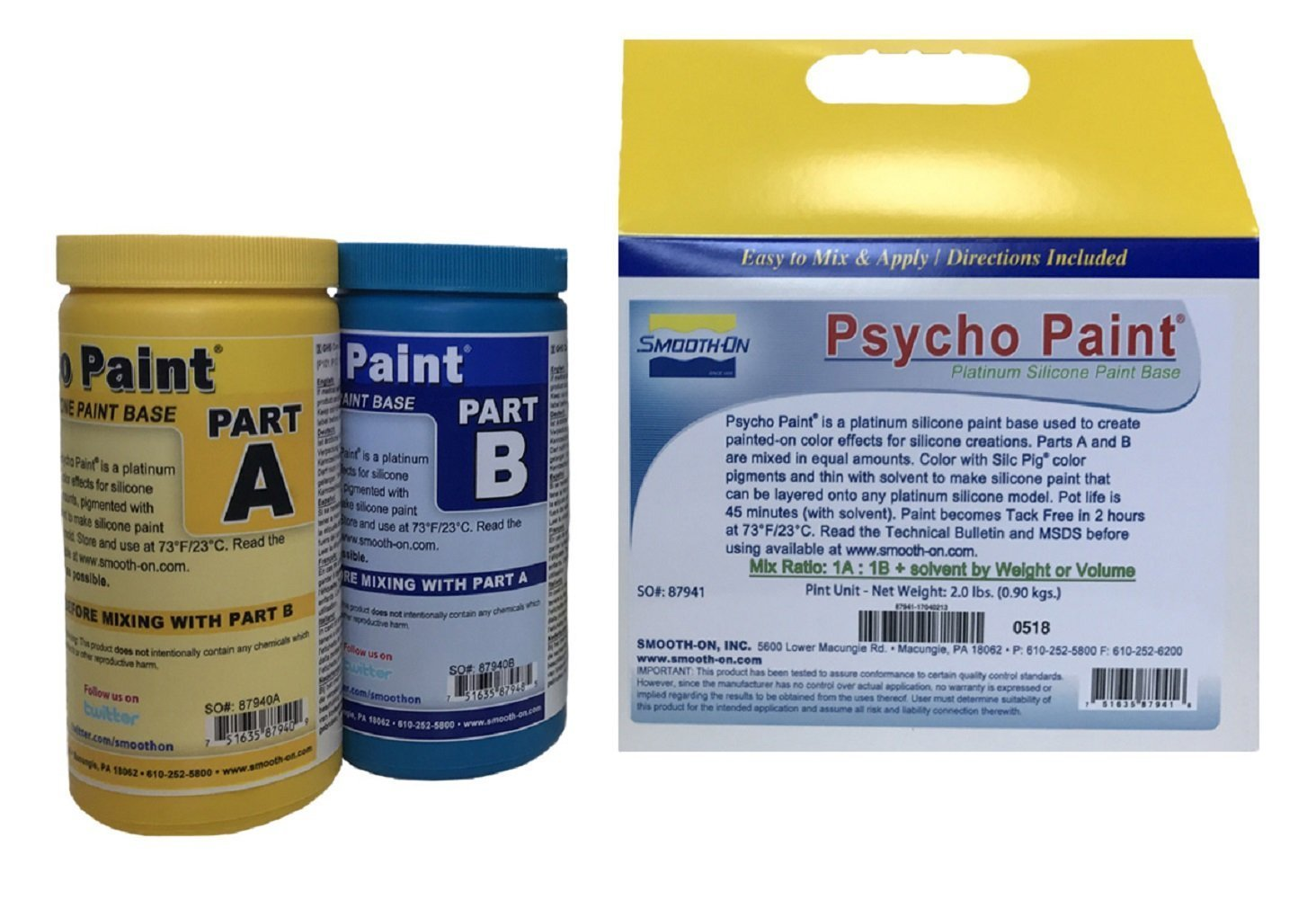 Smooth-on PSYCHO PAINT Platinum Silicone Paint Base - 1 lbs kit by Smooth-On