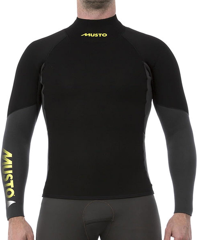 Musto Hombre Foiling 4 mm Thermohot Camiseta de Manga Larga Gris Oscuro Negro - Easy Stretch: Amazon.es: Deportes y aire libre