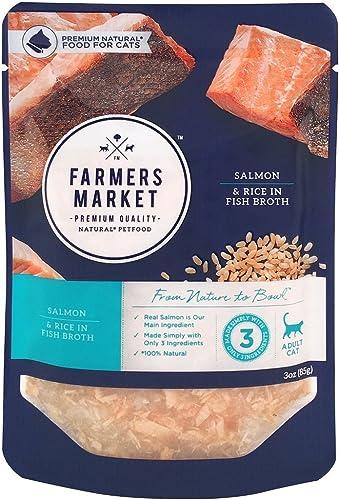 Farmers Market Pet Food Premium Natural Wet Cat Food Pouch, 3 oz Case of 24