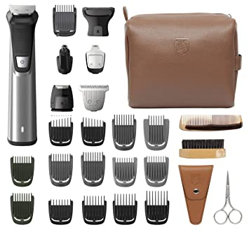 77370bf47d18 Philips Norelco Multi Groomer MG7791/40 29 Piece Mens Grooming Kit, Trimmer  for Beard, Head,...
