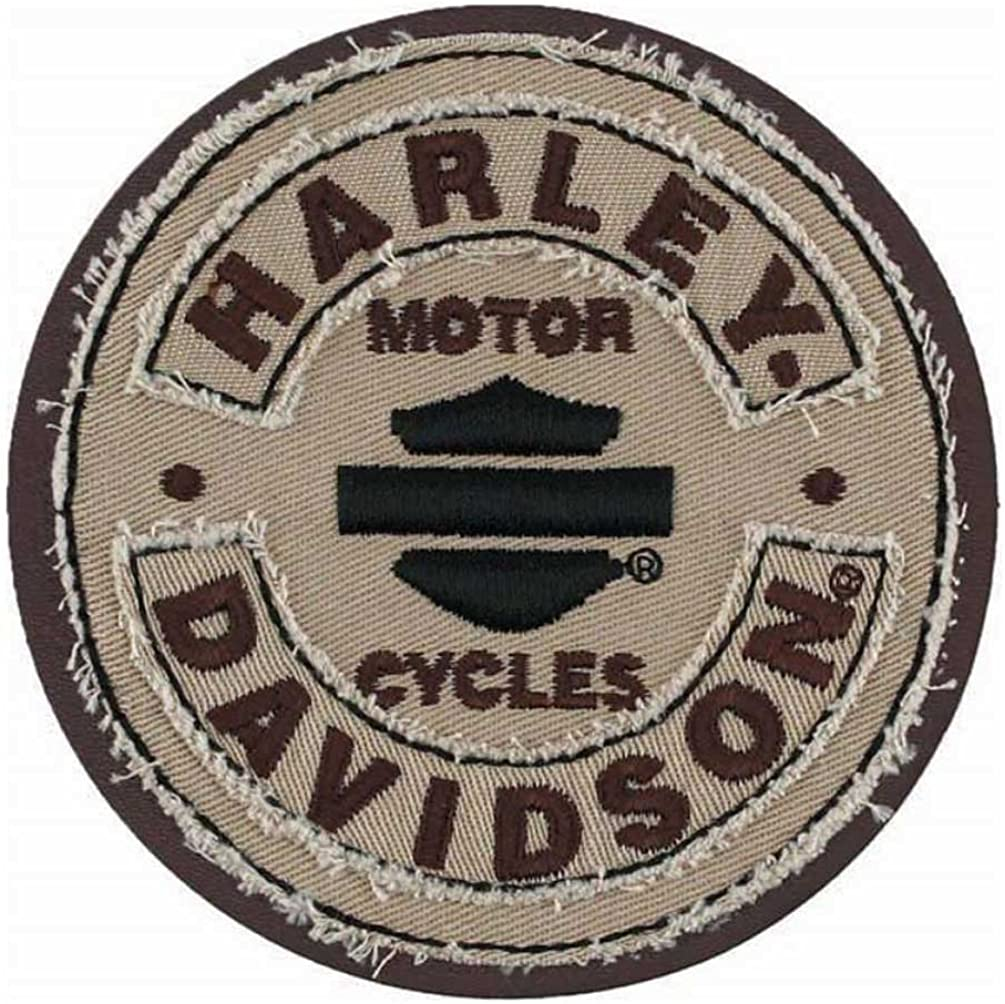 Harley-Davidson Embroidered Blank B/&S Rockers Emblem Patch SM 3.75 in EM297042