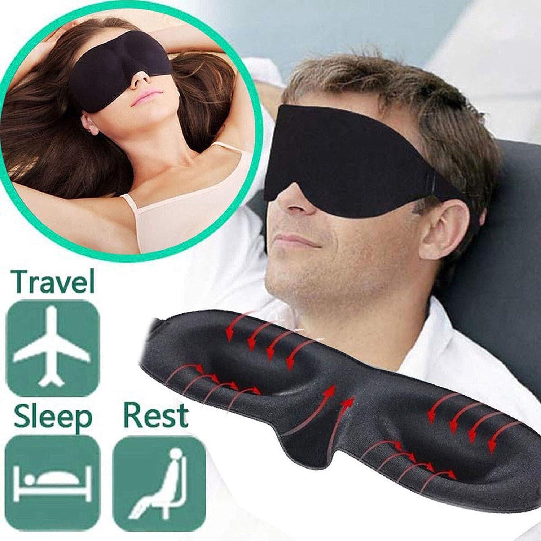 Black1 Units Glamza 3D Sleeping Padded Eye Mask