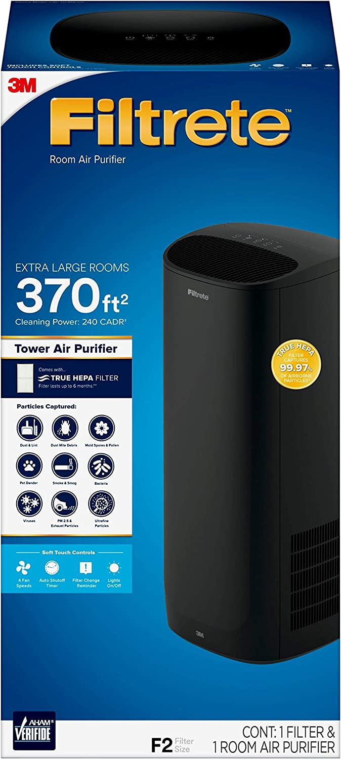 Filtrete Extra Large Room Air Purifier, Black
