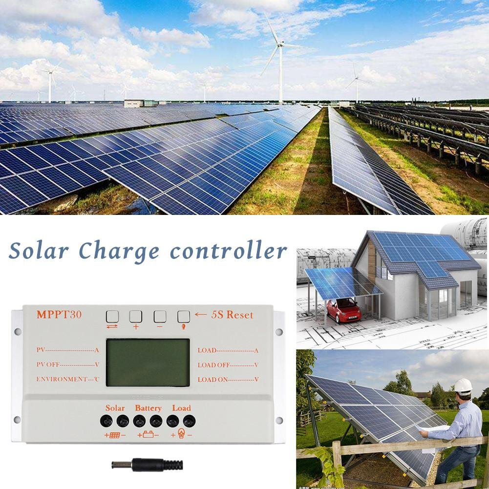 Solar Charge Controllermppt 30a Lcd Battery Charger Circuit Diagram Also 12v 500ma Controller12v 24v Auto Switch Display Mppt30 Regulatormppt 30