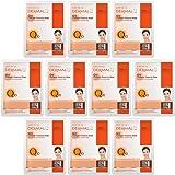 DERMAL Q 10 Collagen Essence Facial Mask Sheet 23g Pack of 10