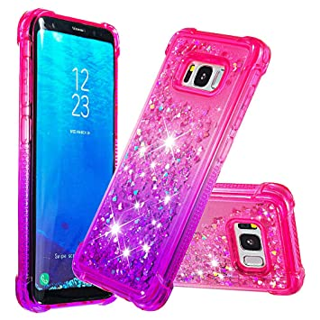 Funda Silicona para Samsung Galaxy S8 Glitter Liquido 3D ...