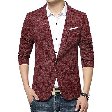 Vividda Slim Fit Freizeit Baumwolle Herren Sakko Blazer Business Anzug  Kurzmantel XS S M L  Amazon.de  Bekleidung 6f9d06618b