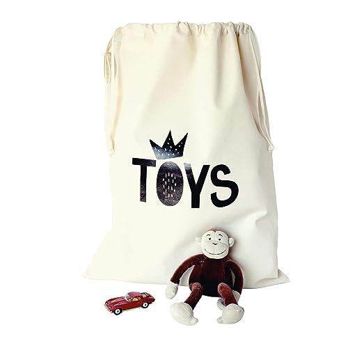 Toy Sack Natural Canvas 8oz Drawstring Storage Sack Kids Toy Storage Keep Child Bedroom Tidy: Amazon.co.uk: Handmade