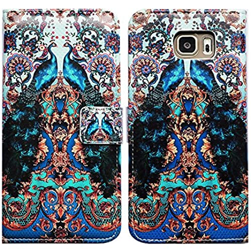 Bfun Packing Bcov Peacock Flower Leather Wallet Cover Case For Samsung Galaxy S7 Sales
