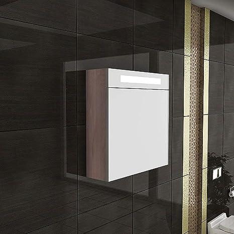 Armario con espejo con iluminación/S de 60/baño muebles ...