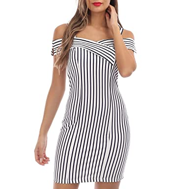 c38c149182a66 La Modeuse - Robe courte à rayures: Amazon.fr: Vêtements et accessoires