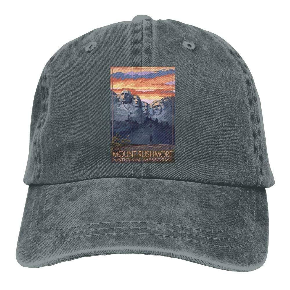 South Dakota Unisex Denim Baseball Cap Mount Rushmore National Memorial