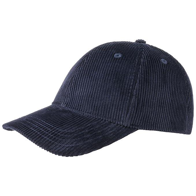 Basic Corduroy Baseball Cap gorra de algodóngorra de baseball (talla única  - azul) d21db2a664c