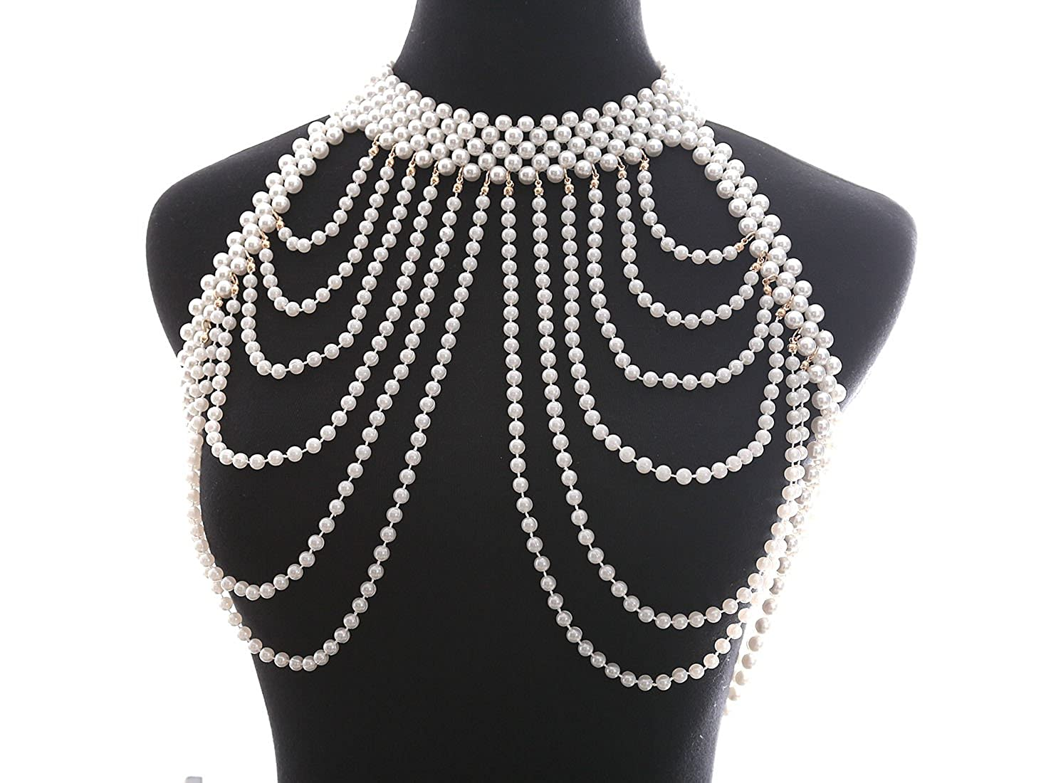 Boderier Handmade Luxury Pearl Choker Necklace Bra Bikini Body Chain Jewelry for Women ZZ6501