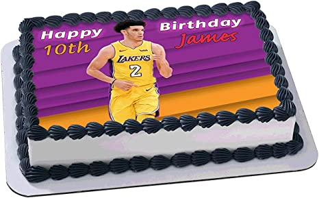 Fantastic Amazon Com Lonzo Ball Los Angeles Lakers Birthday Cake Funny Birthday Cards Online Fluifree Goldxyz