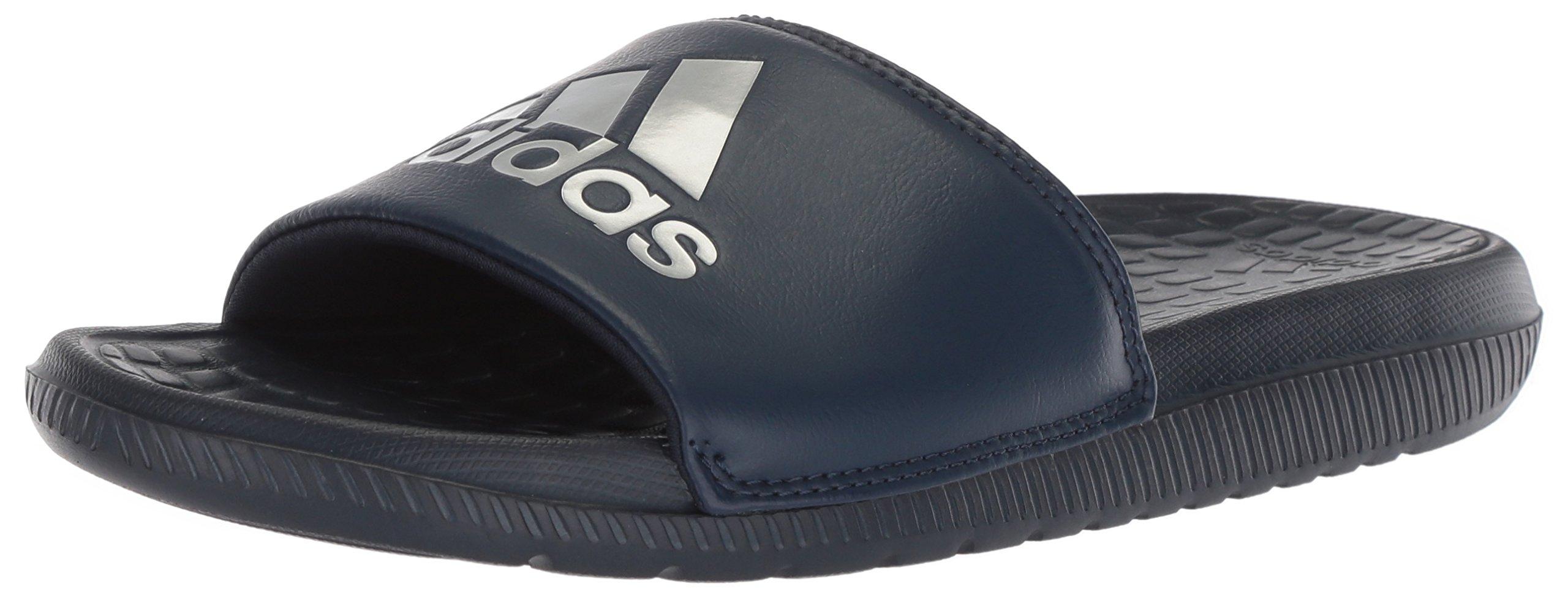 adidas Performance Men's Voloomix Slide Sandal, Collegiate Navy/Silver Metallic/Collegiate Navy, 16 M US