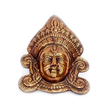 Amazon Com Indian Handicrafts Export Oxidized Golden Durga Maa Face