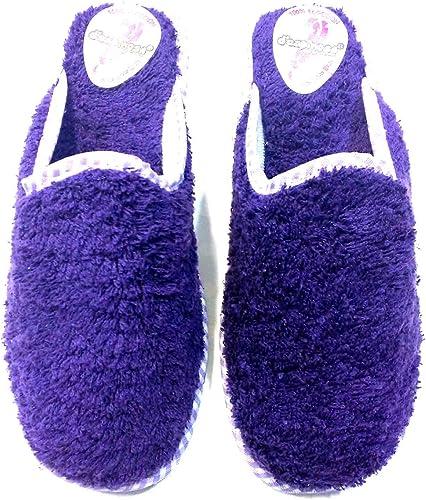 LA ZAPATILLERIA - Zapatilla para casa de Toalla descalza: Amazon.es: Zapatos y complementos