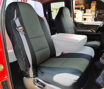 DODGE RAM 1998-2002 CHARCOAL S.LEATHER CUSTOM MADE FIT FRONT SEAT COVER