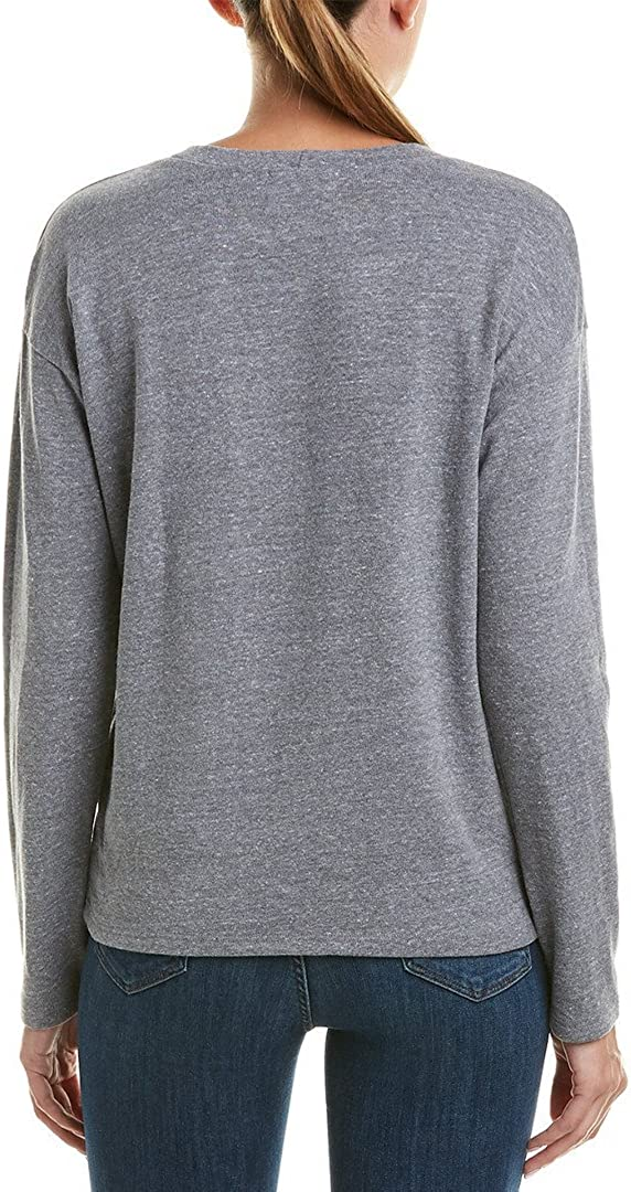 MONROW Damen Sweatshirt W/Studs Pullover Dunkles Erika