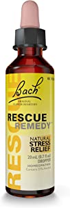 Bach RESCUE REMEDY Dropper 20mL, Natural Stress Relief, Homeopathic Flower Remedy, Vegan, Gluten and Sugar-Free, Non-Habit Forming