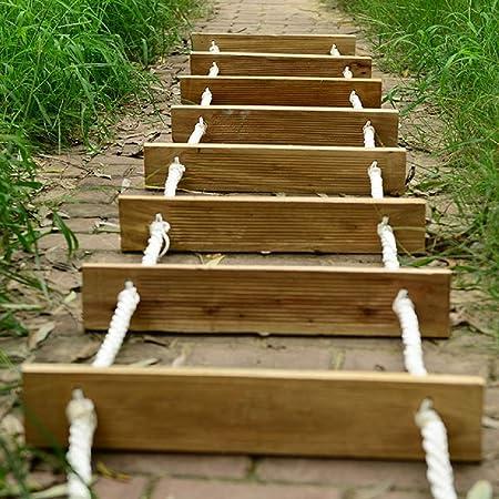 HHORD Escalera de Cuerda de Escape de Incendios, Escaleras de Rescate Plegables al Aire Libre, Escalera Blanda portátil versátil Que Trabaja en Altura Escalera de Madera de Seguridad,20M: Amazon.es: Hogar
