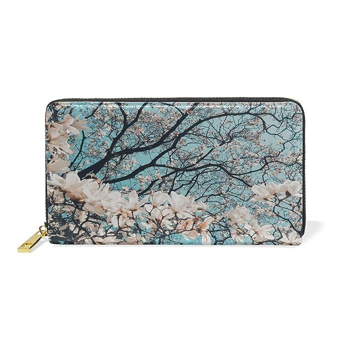 Amazon.com: Carteras Sakura Tree Bloom Monedero de cuero ...