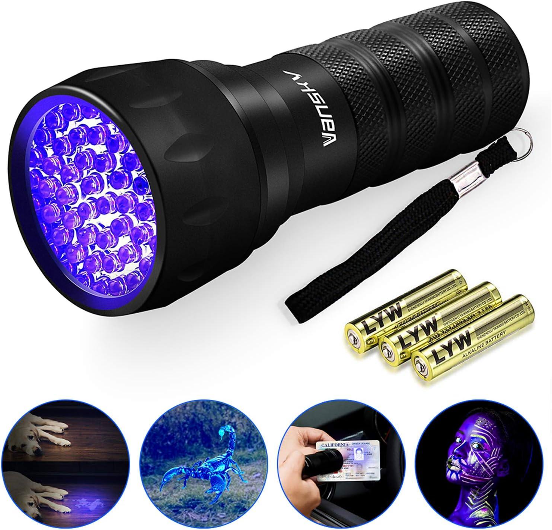 Vansky UV Torch Pets Light 12Led Dog//Cat Urine Detector Ultraviolet Flashlight
