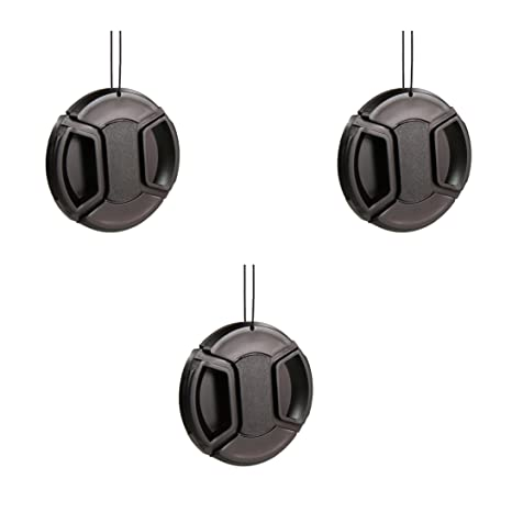 Amazon CamDesign 3PC 62MM Snap On Front Lens Cap Cover For