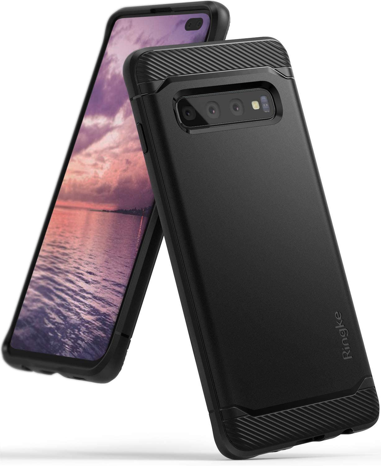 Ringke Onyx Compatible with Galaxy S10 Plus Case Extreme Tough Compatible Rugged Flexible Protection Durable Anti-Slip TPU Heavy Impact Shock Absorbent Case for Galaxy S10 Plus (6.4