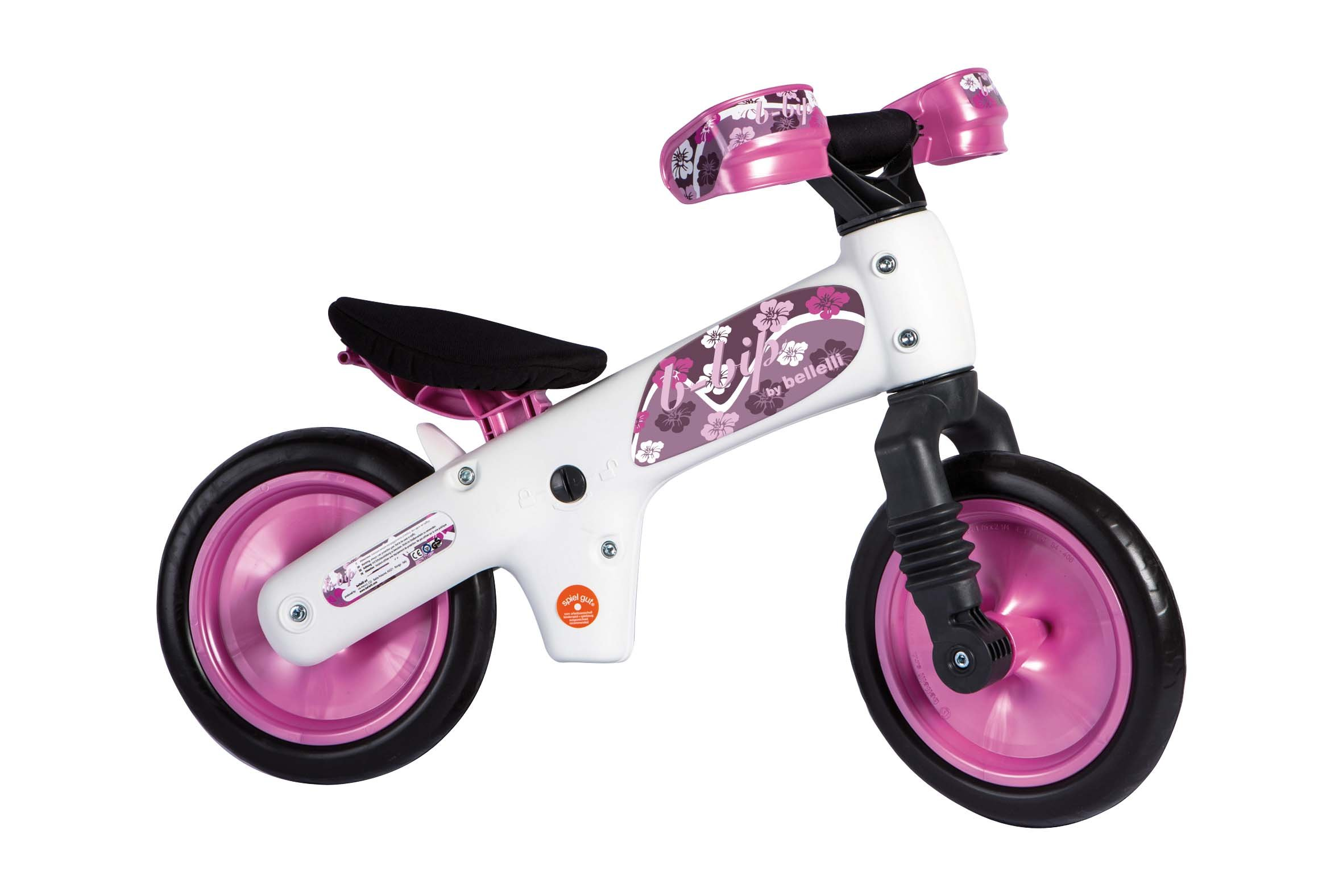 Bellelli Balance Bike with Adjustable Seat - for Ages 2 to 5 years (Pink)