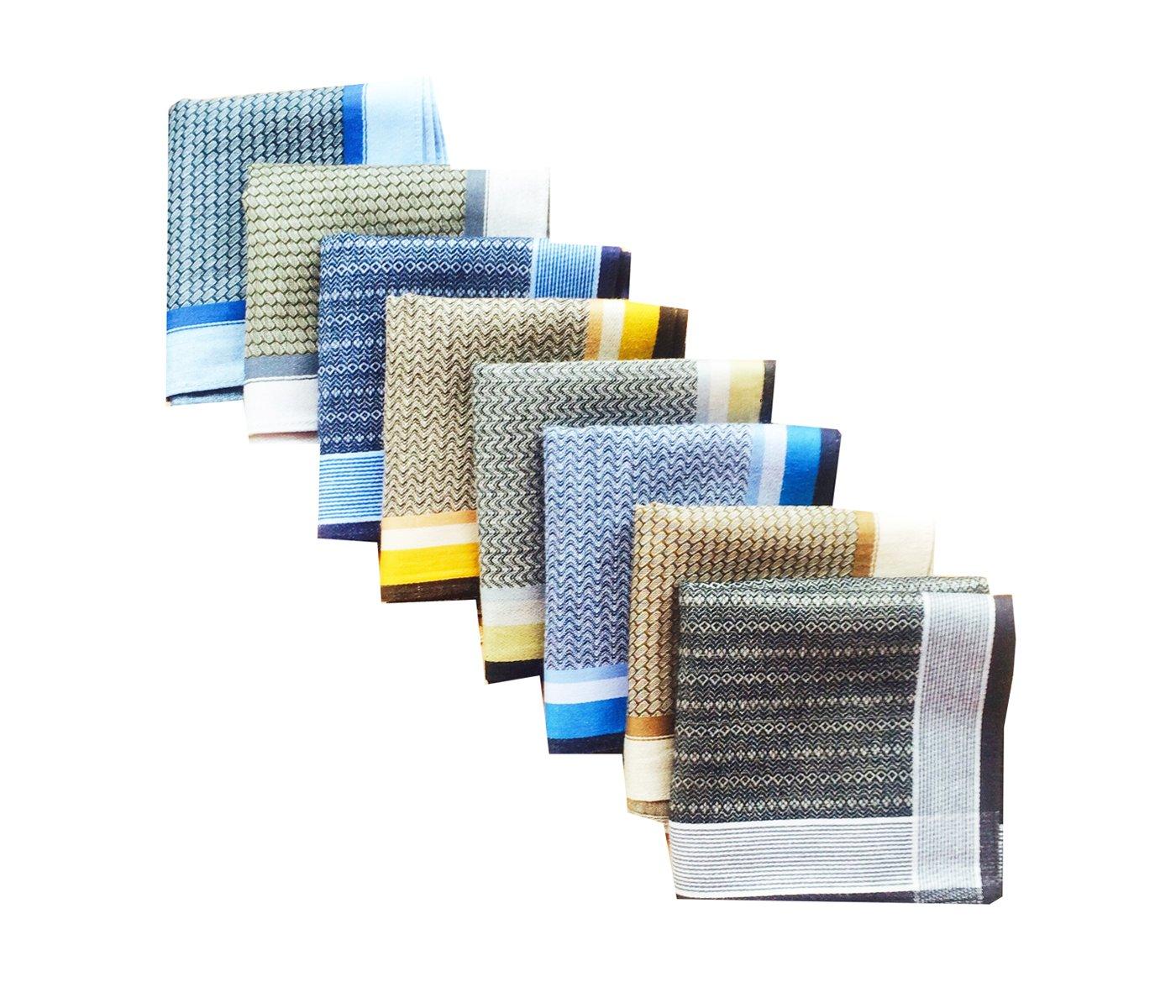 LACS Mens Classic 100% Cotton Handkerchiefs Pack
