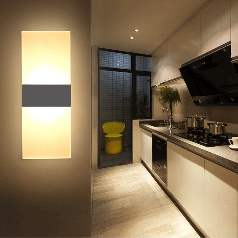 Ownuzz 5 W LED Wall Lights Indoor Creative Minimalist Living Room Bedroom Sign Hotel Corridor LED Acrylic Wall Light Bulb Warm White Energy Rating A