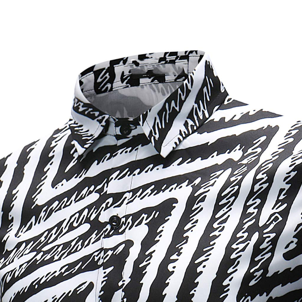 Business Shirts Mens Fashion Simple Lines Pattern Long Sleeved Shirt Uscharm Chemise Pour Hommes